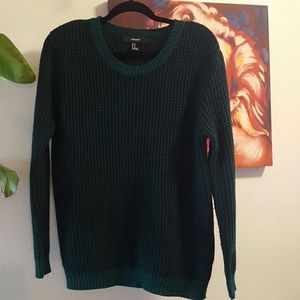 F21 long thick sweater